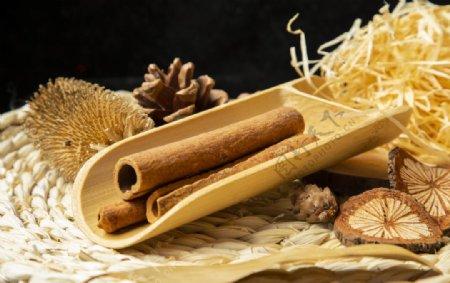肉桂香料食材背景海报素材图片