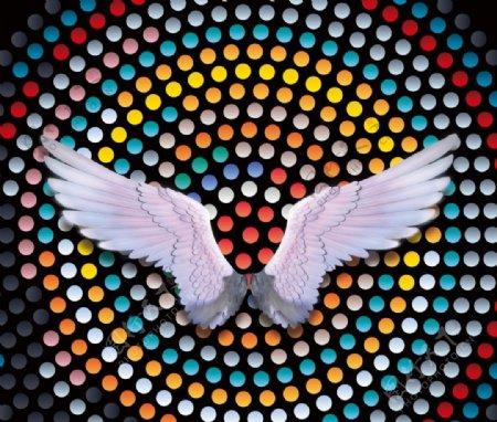 网红翅膀打卡墙图片