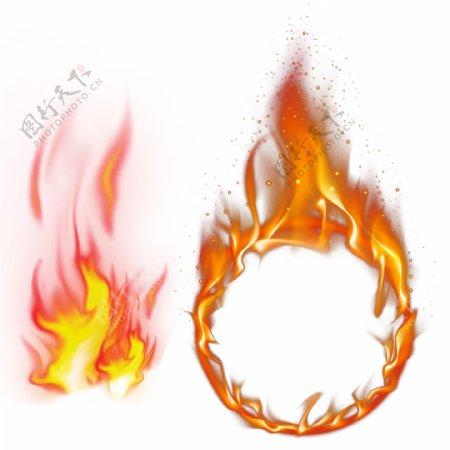 燃烧火圈火苗图片
