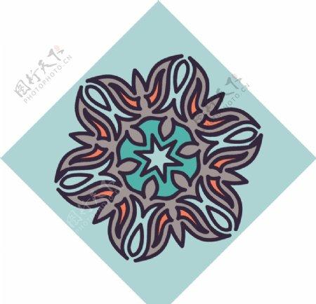 古典少数民族花纹底纹矢量图片