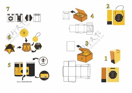 蜂蜜包装设计图片