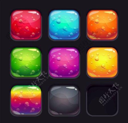 水晶按钮图标图片