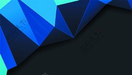 蓝色渐变简约背景海报素材图片
