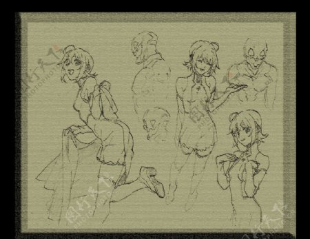 卡通漫画女孩图片