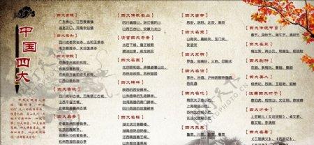 中国四大总结图片