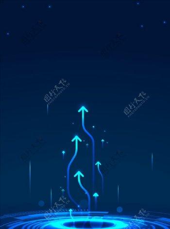 蓝色线条光影背景图片