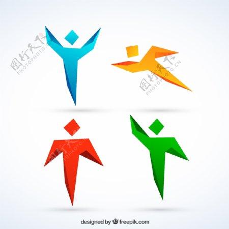 运动小人标志图片