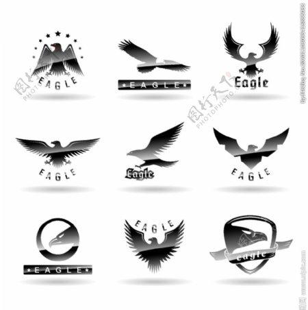 精致鹰标志矢量图片