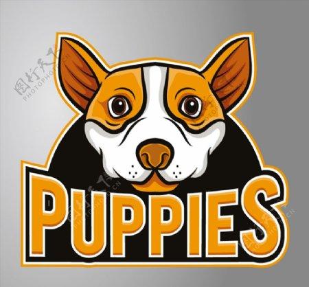 小狗头像标志图片