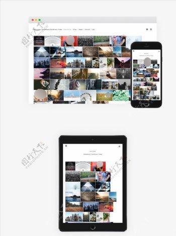 图片采集网站模板代码