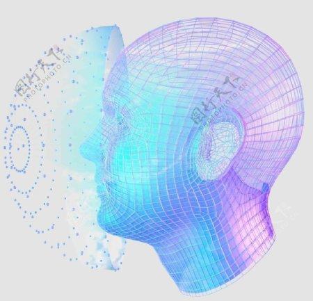 大数据人脸识别模型科技科幻AI图片
