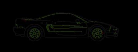 素描小汽车素材png可移植图片