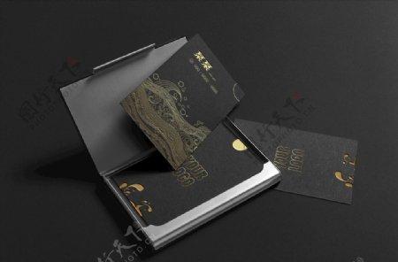 烫金凹凸简约大气创意名片设计图片