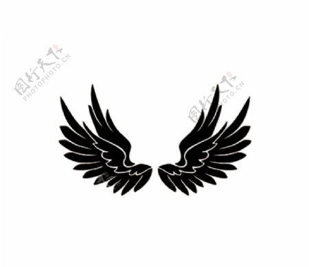 翅膀剪影图片