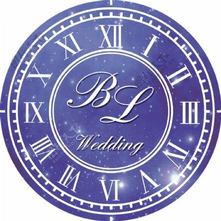 婚礼钟表LOGO图片