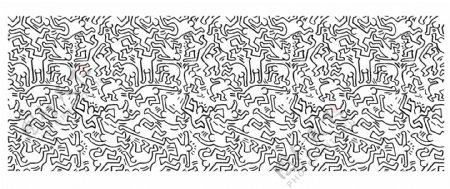 背景墙矢量图无限拼接运动图图片