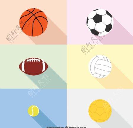 精致球类图标图片