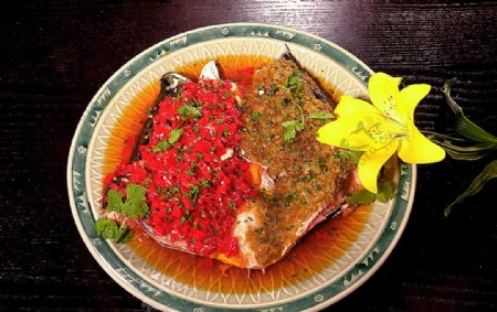 家常菜鸳鸯鱼头图片