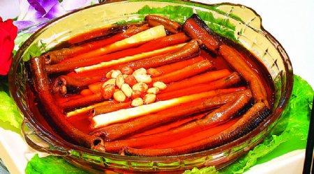 豫菜竹笋烧鳝段图片