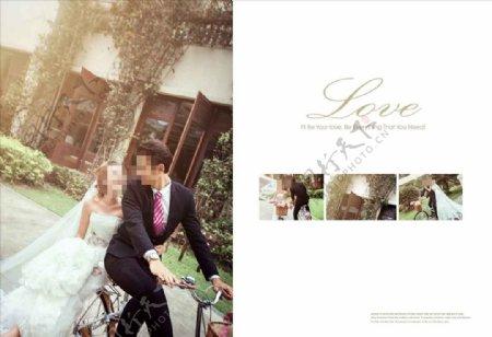 韩国风影楼婚相册模板之单车爱情图片