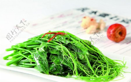 浙菜珊瑚丝瓜尖图片