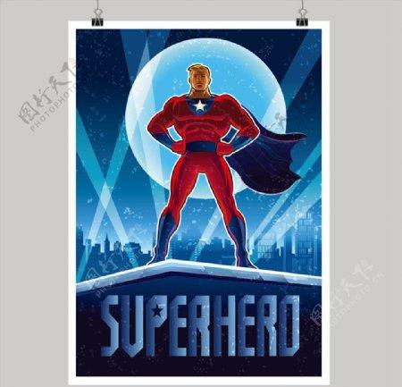 卡通超人插画图片