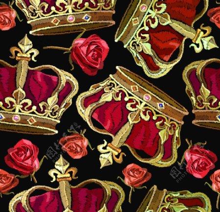 皇冠绣花图片