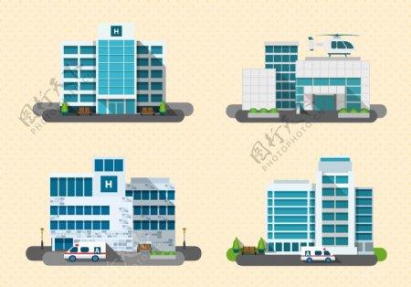 高楼建筑矢量图图片