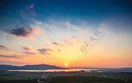天空落日日出图片
