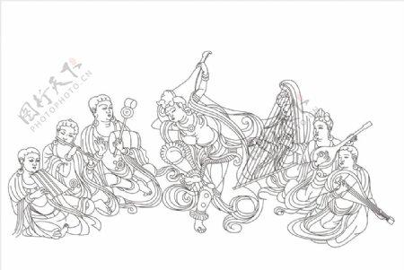 敦煌壁画莫高窟112窟反弹琵琶图片