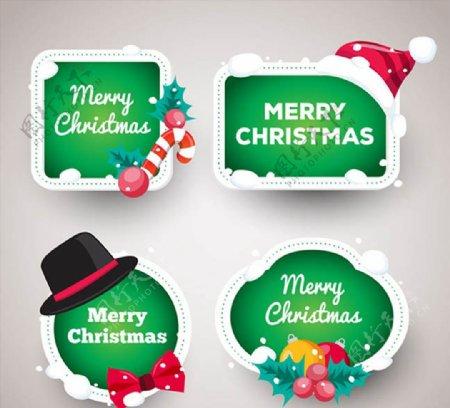 圣诞节祝福标签图片