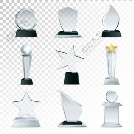 透明奖杯奖牌图片
