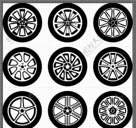 矢量汽车轮胎图片