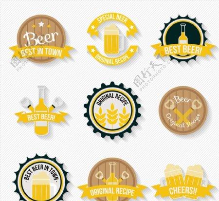 精致啤酒标签图片