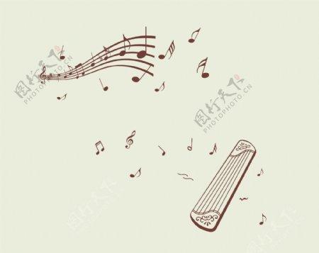 硅藻泥音符琴图片