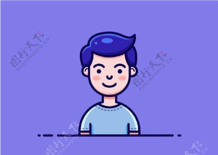 男生小插画图片