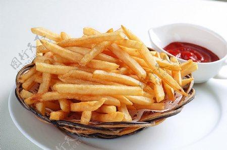 西餐亚洲法式炸薯条图片