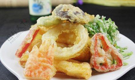 日韩料理炸蔬菜图片