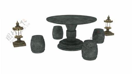 圆桌塔灯3d模型图片