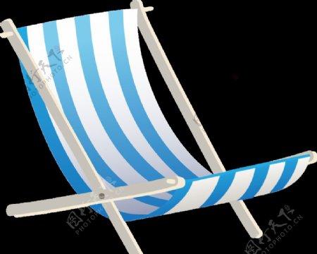 免抠条纹躺椅图片