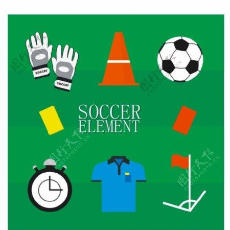 8款创意足球元素矢量素材图片