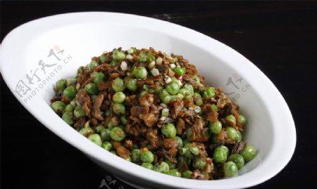 婆菜炒甜豌豆图片