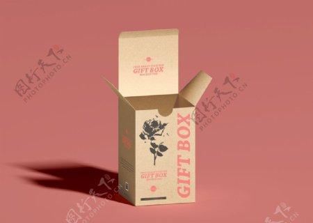 牛皮纸礼盒样机图片