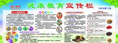 11月糖尿病中医主题宣传栏蓝天图片