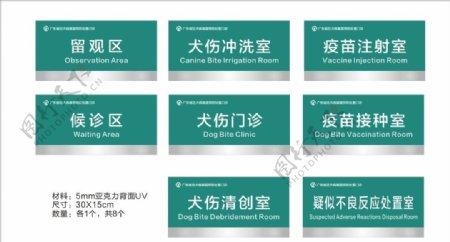 狂犬病暴露后预防处置门牌图片
