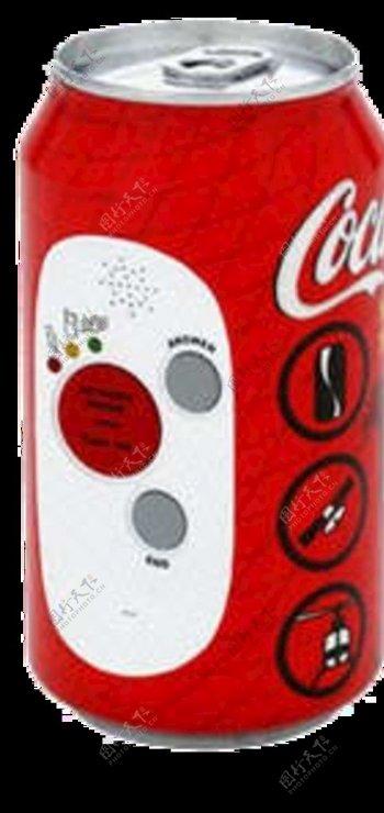可口可乐饮料瓶图片