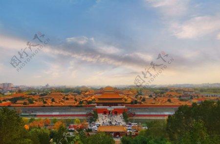 北京故宫博物馆全景图片