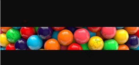 C4D模型巧克力豆糖果球图片