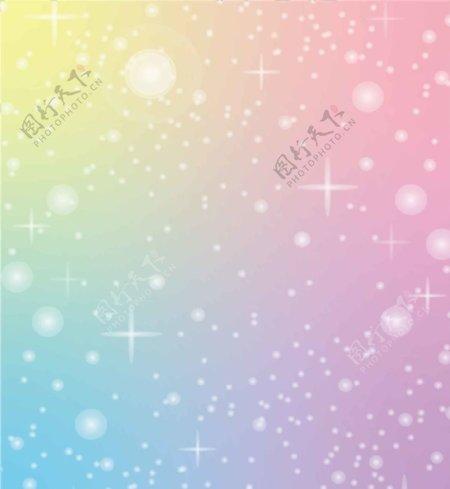 彩色幻彩科技彩虹星星图片