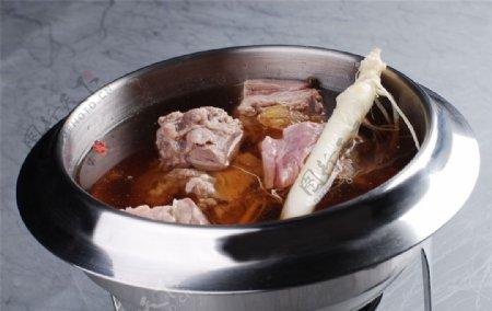 人参冬羊汤底图片